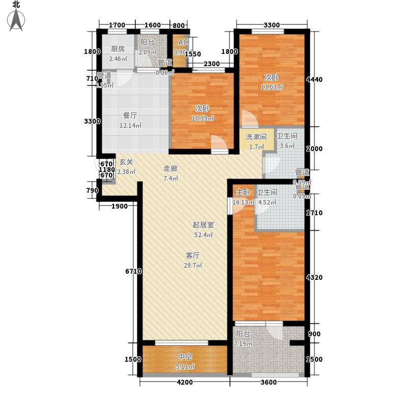 十二院城164.00㎡户型3室2厅