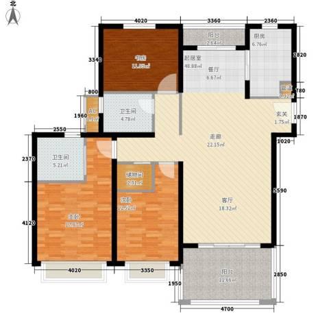 中信和平家园3室0厅2卫1厨140.00㎡户型图