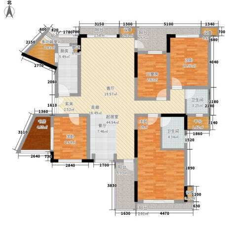 宏远时代广场5室0厅2卫1厨138.00㎡户型图
