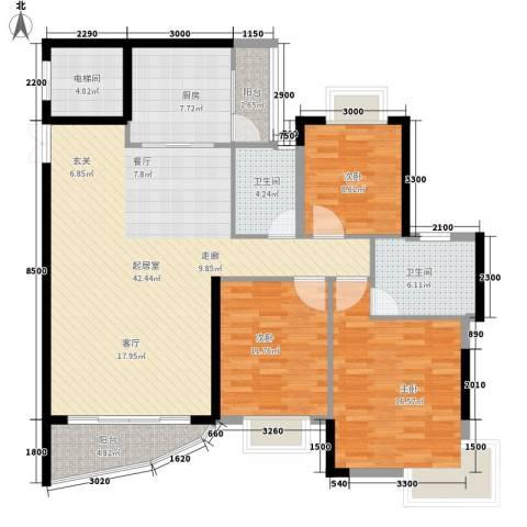 望谷・温泉小镇3室0厅2卫1厨134.00㎡户型图
