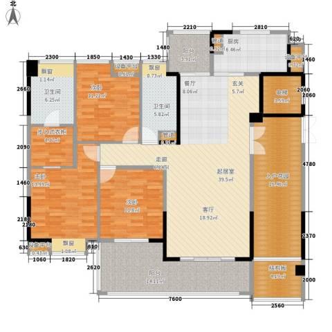 归心花园3室0厅2卫1厨160.00㎡户型图