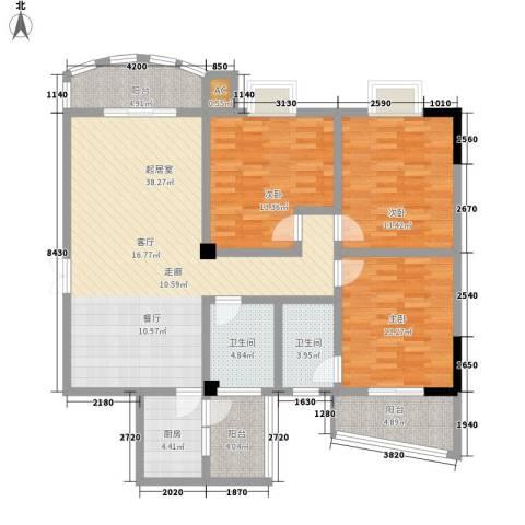 安居恒富苑3室0厅2卫1厨154.00㎡户型图