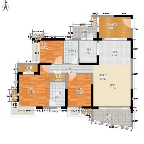 御景湾3室1厅2卫1厨129.00㎡户型图