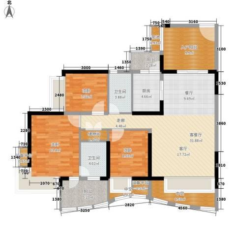 御景湾3室1厅2卫1厨148.00㎡户型图