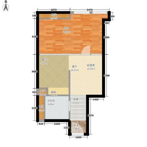 华润橡树湾1室0厅1卫0厨55.00㎡户型图