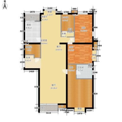 国风上观3室0厅2卫1厨196.00㎡户型图