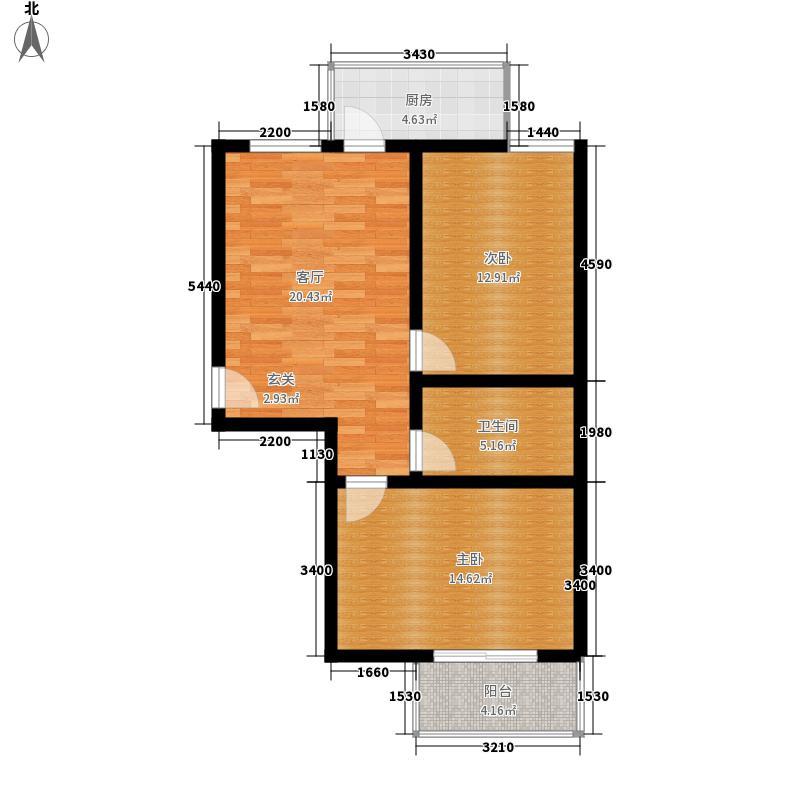 华旗地和苑两室一厅一卫80.95、88.34户型2室1厅1卫1厨