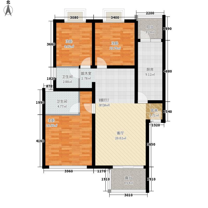 华立凤凰城108.11㎡3室2厅2卫