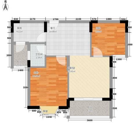 新光小区2室0厅1卫1厨62.43㎡户型图