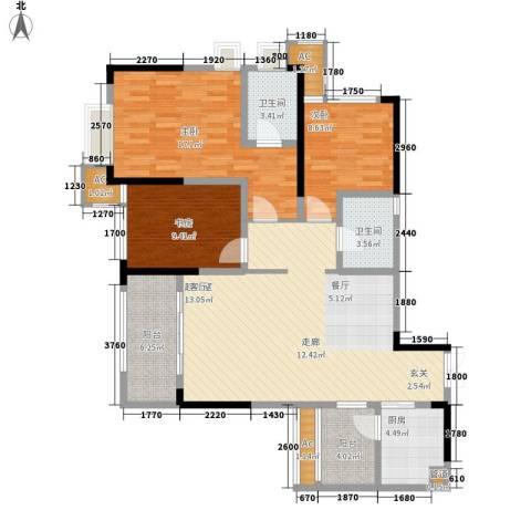 阿特豪斯3室0厅2卫1厨107.11㎡户型图