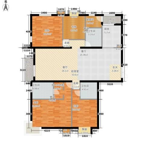 国风上观4室0厅3卫1厨209.00㎡户型图
