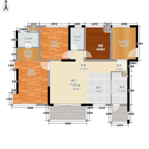 新光花园2室0厅2卫1厨167.00㎡户型图