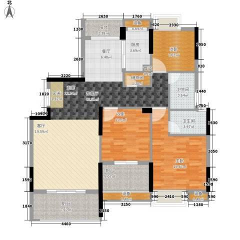 联泰香域中央3室1厅2卫1厨123.00㎡户型图