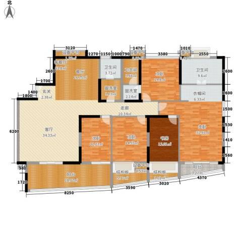 半岛城邦二期5室1厅3卫0厨290.00㎡户型图