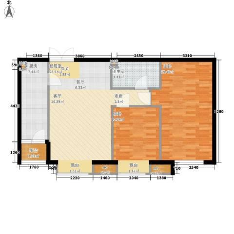国风上观2室0厅1卫1厨95.00㎡户型图