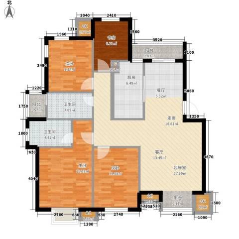 新光花园4室0厅2卫1厨146.00㎡户型图