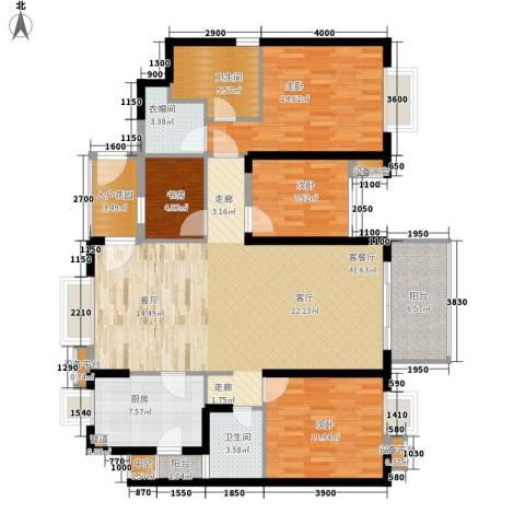 半岛城邦二期4室1厅2卫1厨162.00㎡户型图