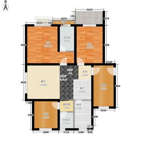 翡翠湾3室1厅2卫1厨109.00㎡户型图