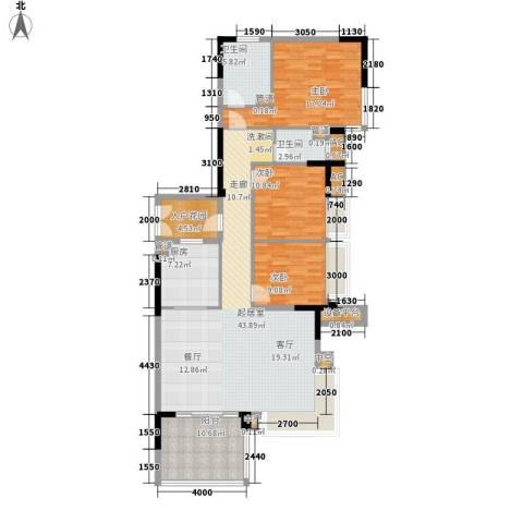 万科虹溪诺雅樱花湖3室0厅2卫1厨164.00㎡户型图