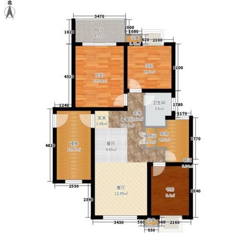 翡翠湾3室1厅1卫1厨94.00㎡户型图