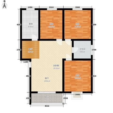 兰荷苑星河湾3室0厅1卫1厨140.00㎡户型图