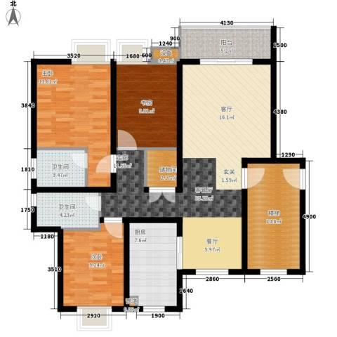 翡翠湾3室1厅2卫1厨117.00㎡户型图
