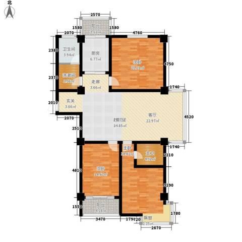 新苑逸城3室0厅1卫1厨179.00㎡户型图