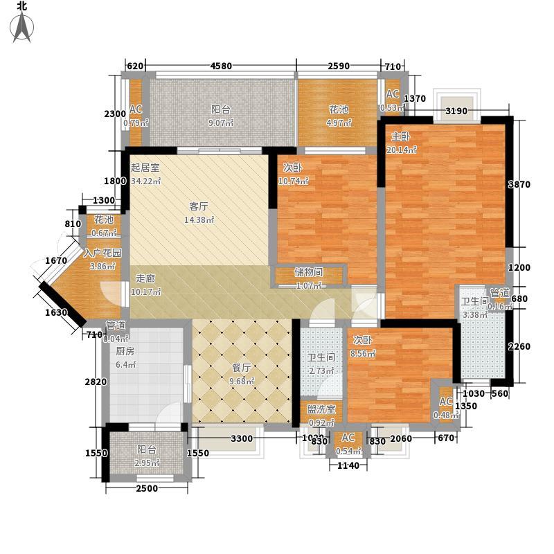 新鸿基悦城154.37㎡二期154.37平米户型3室2厅2卫1厨