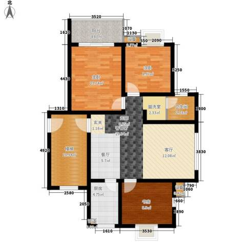 翡翠湾3室1厅1卫1厨99.00㎡户型图