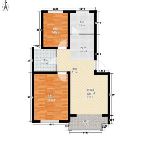 翡翠城花园小区2室0厅1卫1厨102.00㎡户型图
