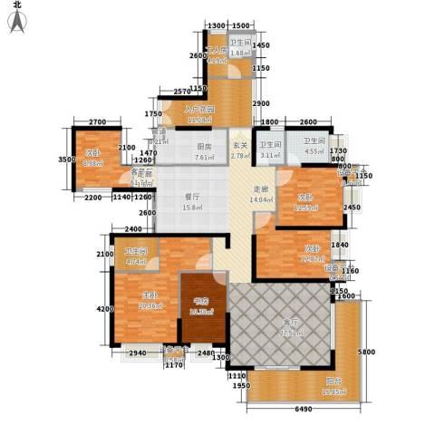 半岛城邦二期5室1厅4卫1厨182.58㎡户型图