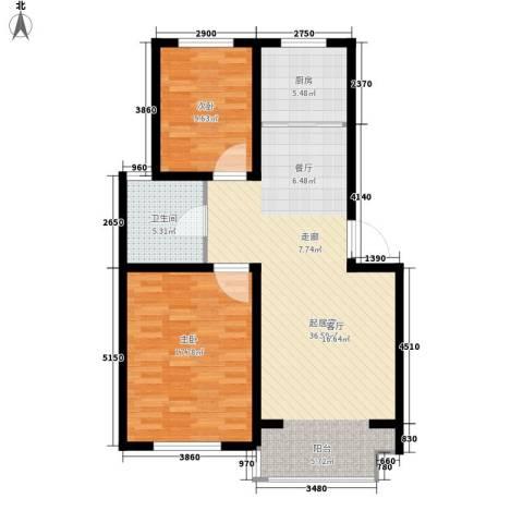 翡翠城花园小区2室0厅1卫1厨105.00㎡户型图