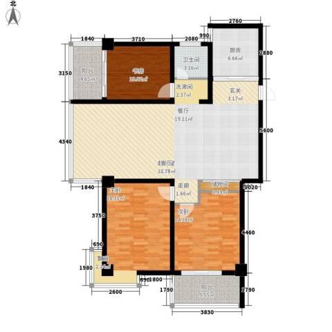新苑逸城3室0厅1卫1厨160.00㎡户型图