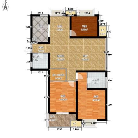 凤凰名城3室0厅2卫1厨124.00㎡户型图