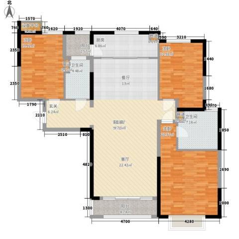 西派国际3室1厅2卫1厨140.00㎡户型图