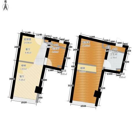 中宇国际中心2卫0厨44.00㎡户型图