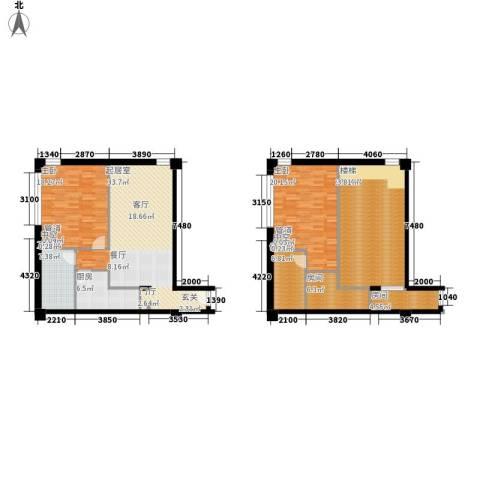 美利・国际2室0厅1卫1厨132.09㎡户型图