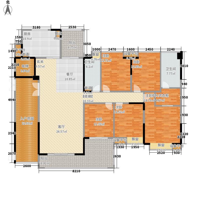 归心花园227.51㎡G户型5室2厅2卫1厨