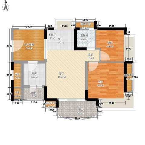 御景湾2室1厅1卫1厨94.00㎡户型图