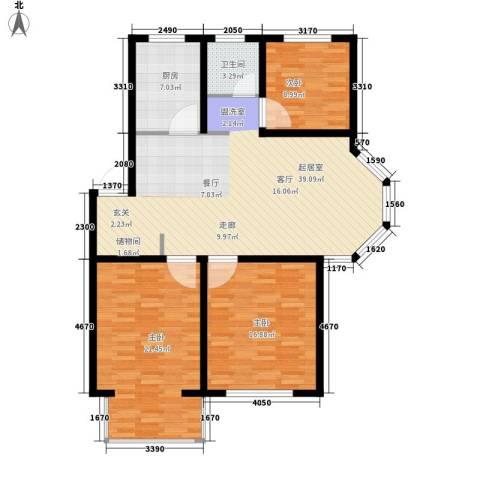 翡翠城花园小区3室0厅1卫1厨135.00㎡户型图