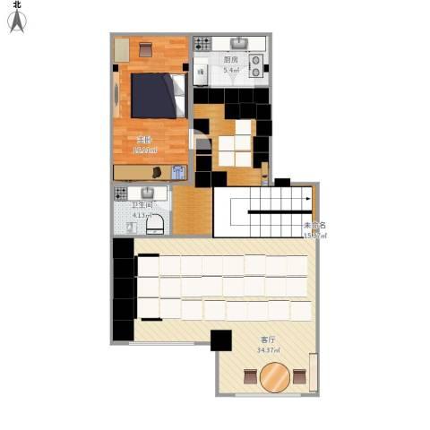 恒泰・尚城1室1厅1卫1厨114.00㎡户型图