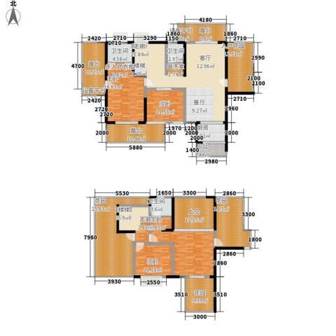 城市春天4室1厅3卫1厨244.01㎡户型图