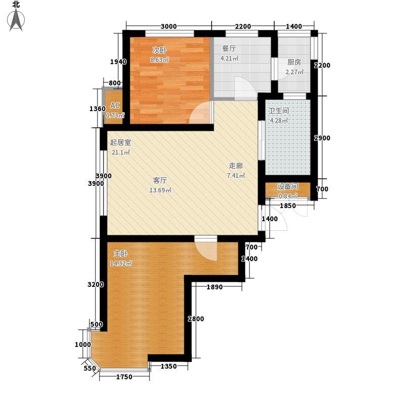 雨润溪树华庭79.00㎡雨润溪树华庭户型图高层G户型图2室2厅1卫户型2室2厅1卫
