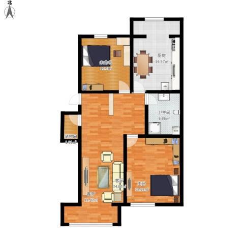 千禧名仕1室1厅1卫1厨129.00㎡户型图