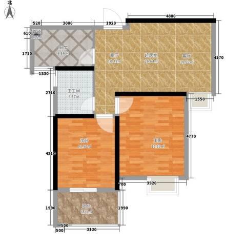 凤凰名城2室0厅1卫1厨84.00㎡户型图