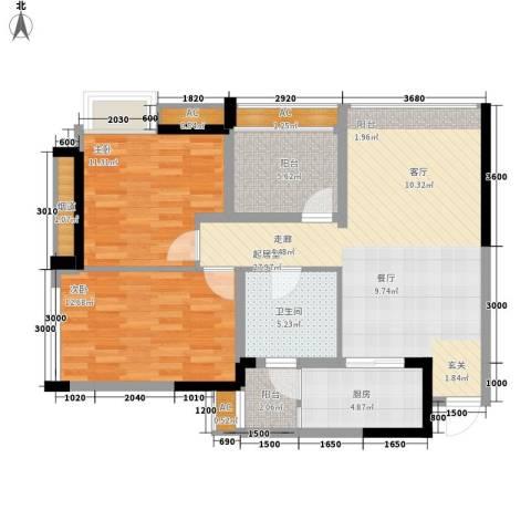 泽胜依山郦景2室0厅1卫1厨87.00㎡户型图