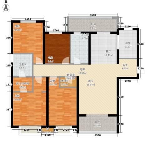 华润中海凯旋门4室0厅2卫1厨160.00㎡户型图