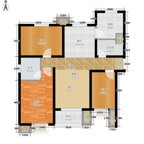 赵都新城1室1厅1卫1厨142.00㎡户型图