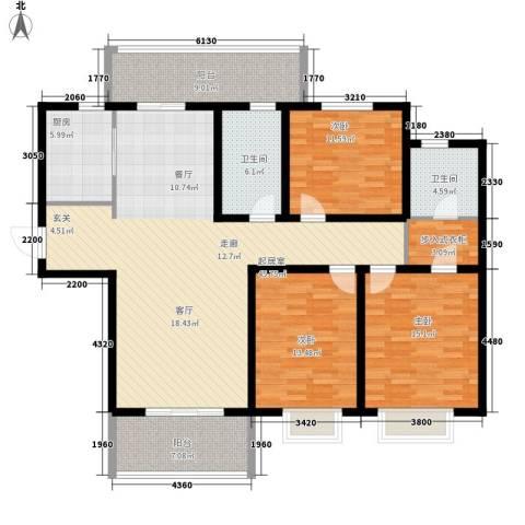 华润中海凯旋门3室0厅2卫1厨139.00㎡户型图