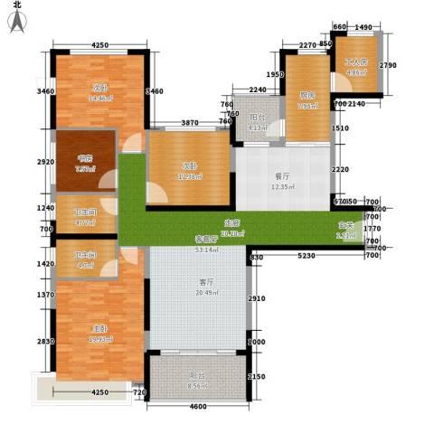 南昌恒大名都4室1厅2卫1厨160.00㎡户型图
